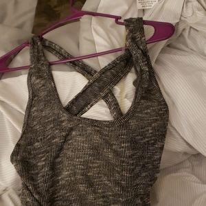 Dark grey Tank Dress , Rayon/Polyester